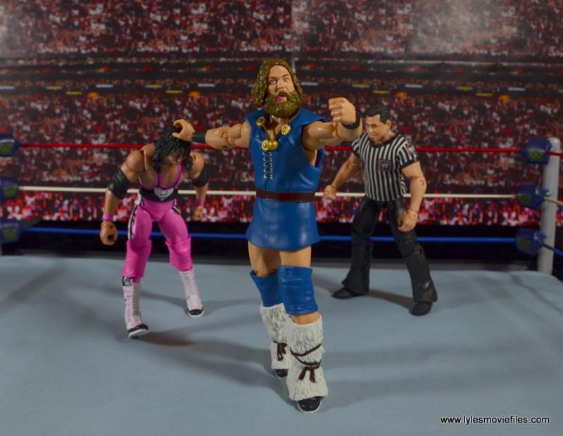 WWE The Berzerker figure review - sending Bret Hart to turnbuckle