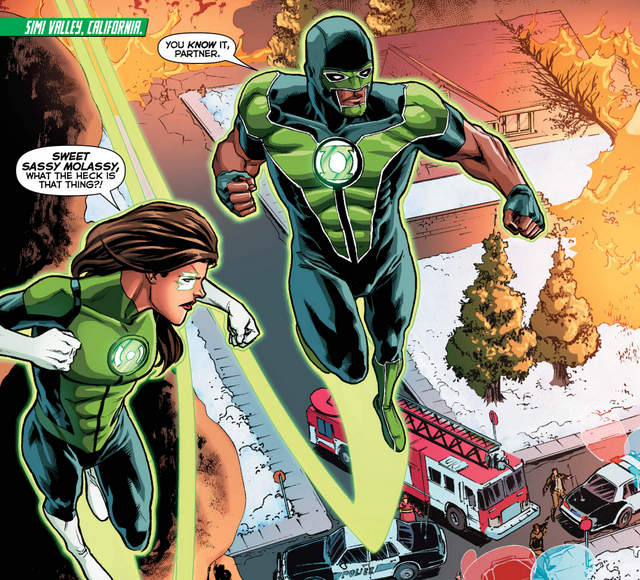 Green Lanterns #32 interior art
