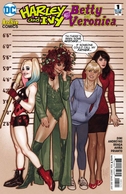 Harley and Ivy Meet Betty and Veronica #1 variant cover