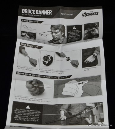 Hot Toys Bruce Banner figure review -instructions