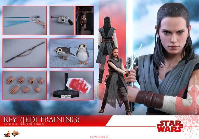 Hot Toys The Last Jedi Rey Jedi Training figure - collage