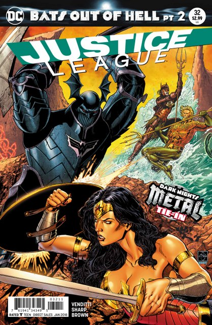 Justice League #32 cover