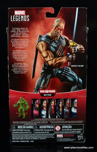 Marvel Legends Blade figure review -package rear