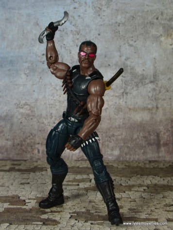 Marvel Legends Blade figure review -ready to fling
