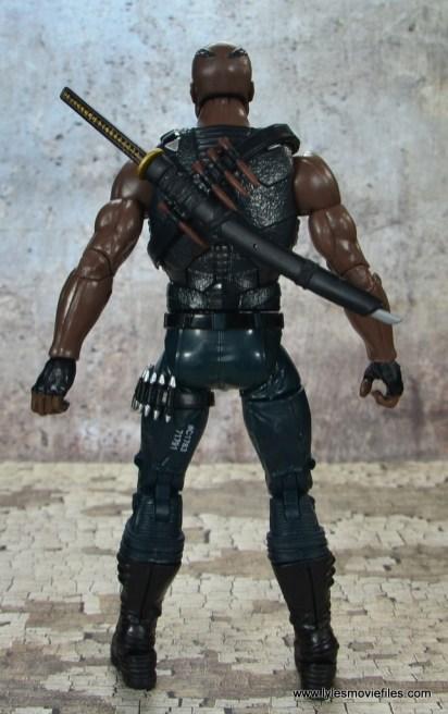 Marvel Legends Blade figure review -rear