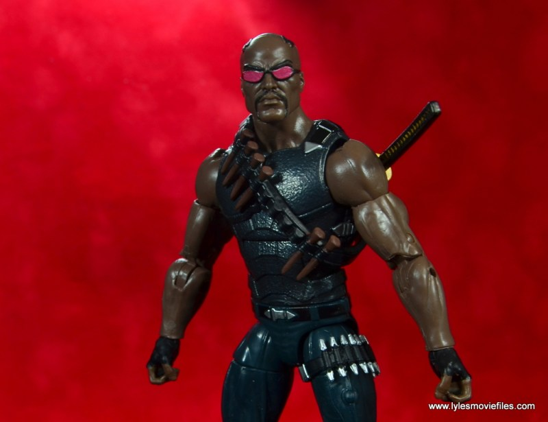 Marvel Legends Blade figure review -red wide