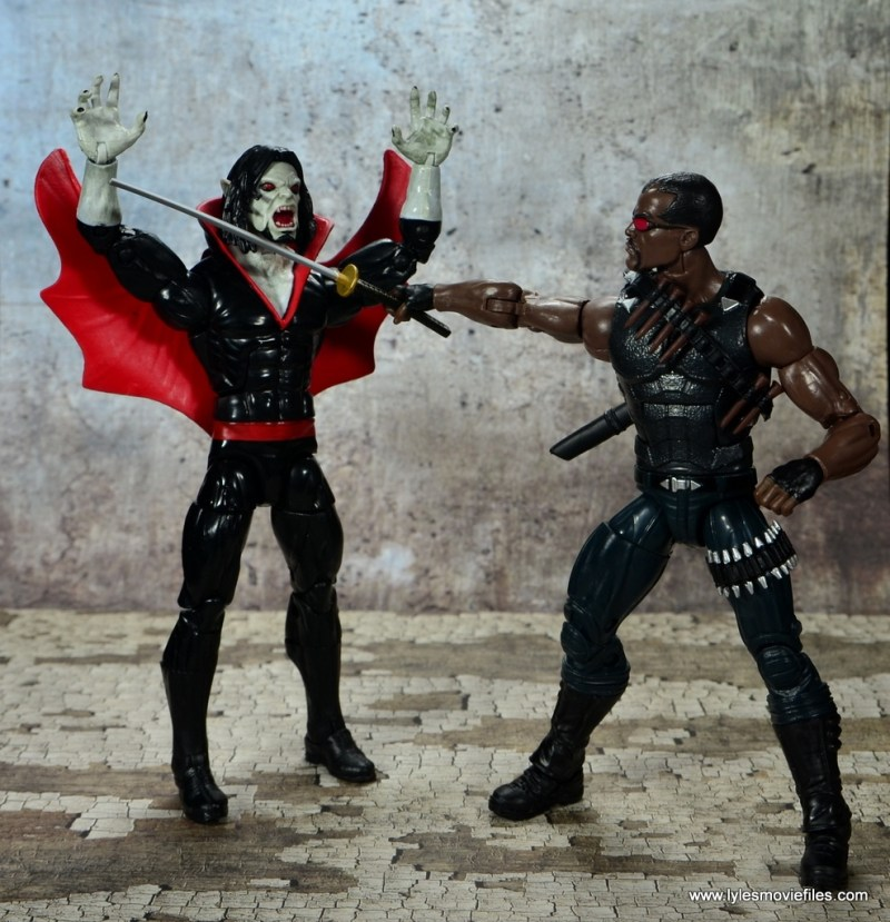 Marvel Legends Blade figure review -warning Morbius