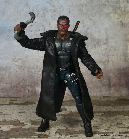 Marvel Legends Blade figure review -with Toy Biz Blade accessories