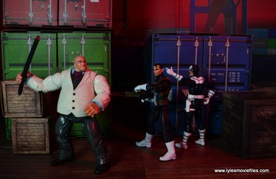 Marvel Legends Bullseye figure review - sneaking up on Punisher