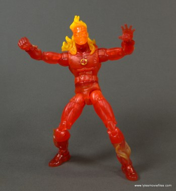 Marvel Legends The Human Torch figure review -ready to fly