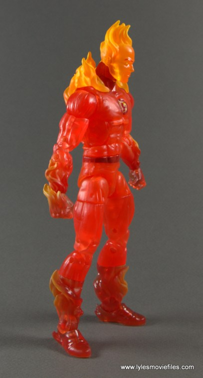 Marvel Legends The Human Torch figure review -right side
