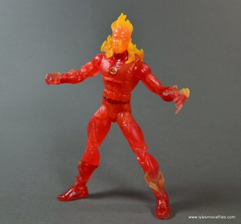 Marvel Legends The Human Torch figure review -wide stance