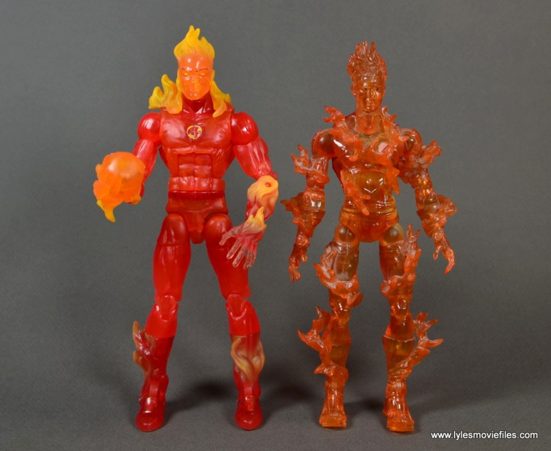Marvel Legends The Human Torch figure review - with Toy Biz Human Torch