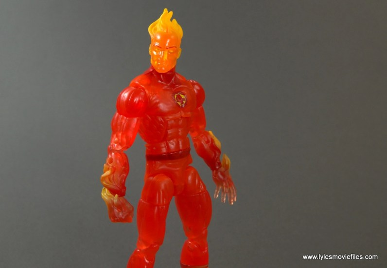Marvel Legends The Human Torch figure review - without flame backpack
