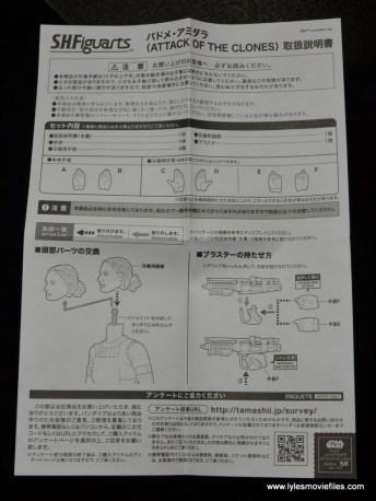 SH Figuarts Padme figure review -instructions