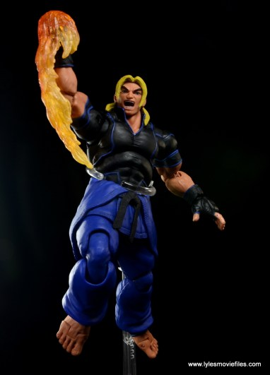 Storm Collectibles Street Fighter V Ken figure review - flaming Dragon Punch front