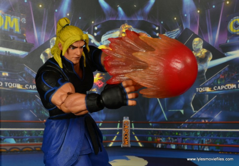 Storm Collectibles Street Fighter V Ken figure review - flaming fireball