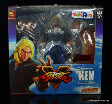 Storm Collectibles Street Fighter V Ken figure review - front package