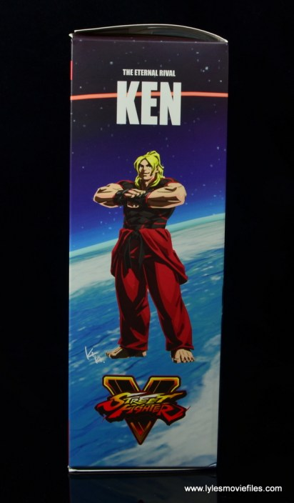 Storm Collectibles Street Fighter V Ken figure review -package side