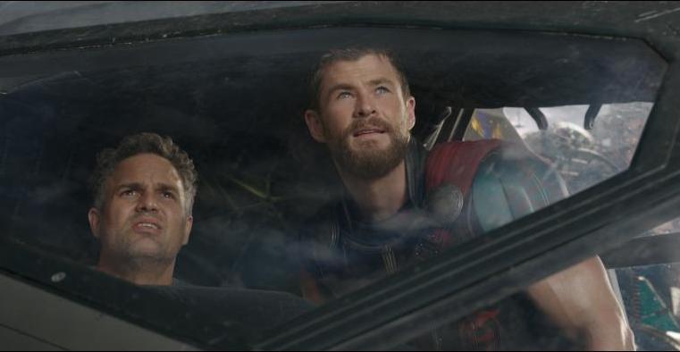 Thor Ragnarok review - Mark Ruffalo and Chris Hemsworth