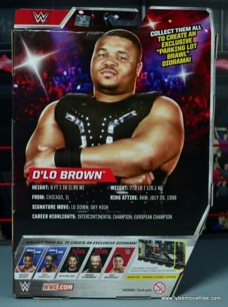 WWE Elite D-Lo Brown figure review -package rear
