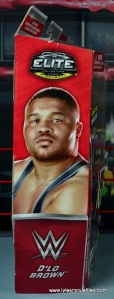 WWE Elite D-Lo Brown figure review -package side