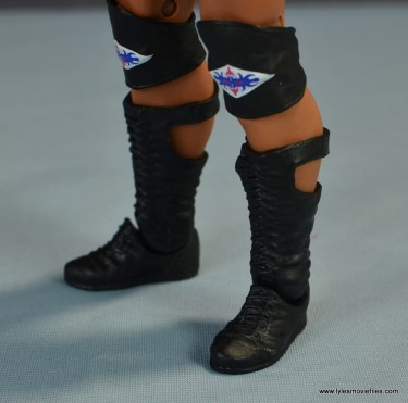WWE Elite Farooq and The Rock Nation of Domination figure review set - The Rock boots side