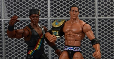 WWE Elite Farooq and The Rock Nation of Domination figure review set - on Raw is War set