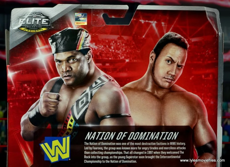 WWE Elite Farooq and The Rock Nation of Domination figure review set -package bio