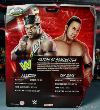 WWE Elite Farooq and The Rock Nation of Domination figure review set -package rear