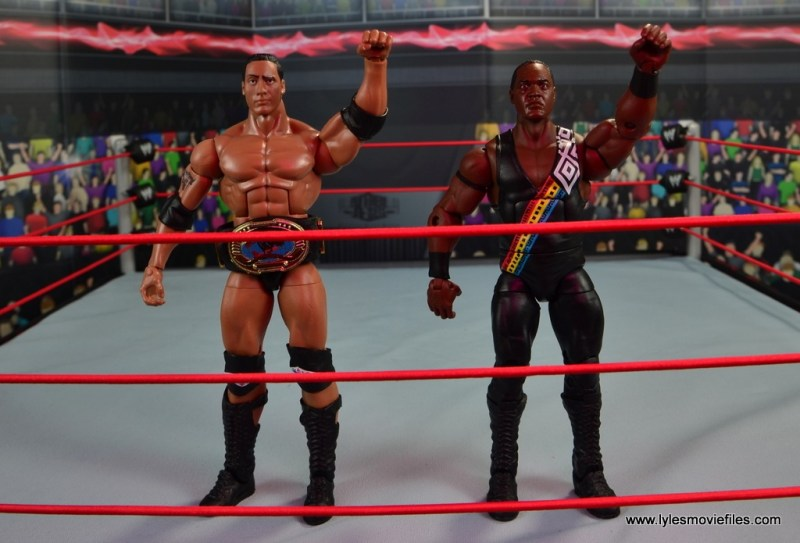 WWE Elite Farooq and The Rock Nation of Domination figure review set - salute