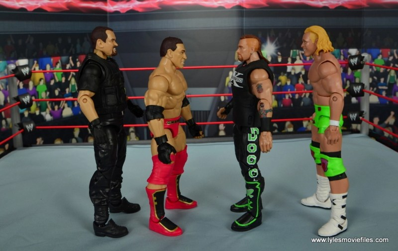 WWE Elite Ken Shamrock figure review -scale with Big Boss Man, Road Dogg and Billy Gunn