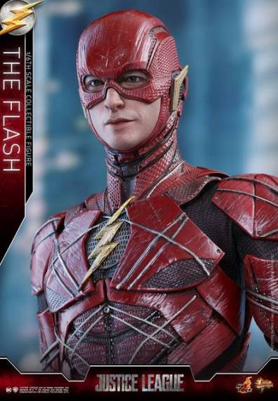 Hot Toys Justice League The Flash figure - looking up