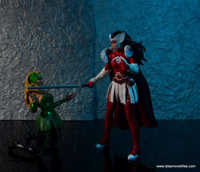 Marvel Legends A-Force Lady Sif figure review -vs Enchantress