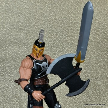 Marvel Legends Ares figure review -axe out front