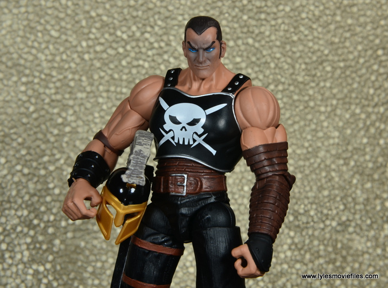 Marvel Legends Ares figure review -holding helmet