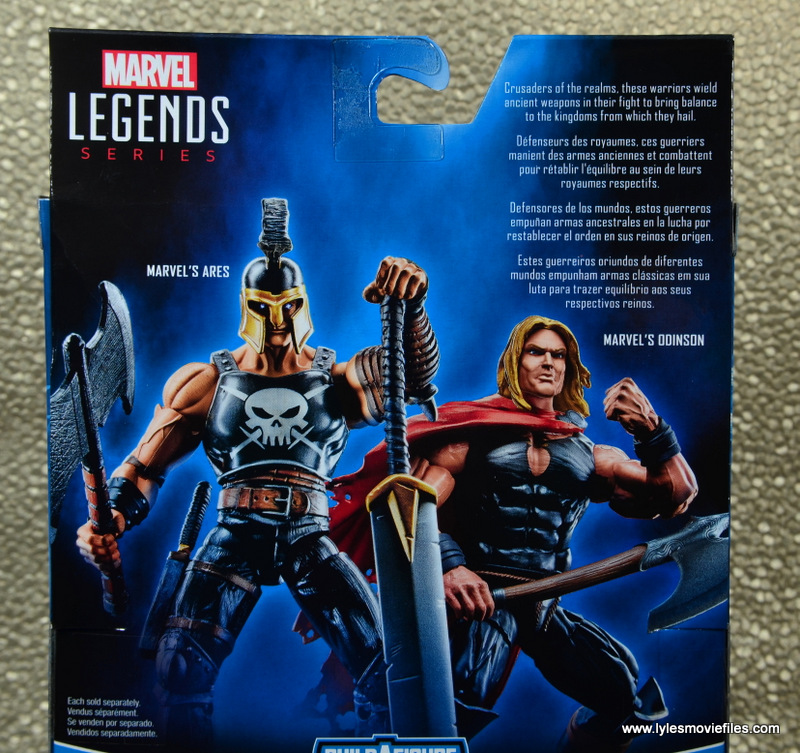 Marvel Legends Ares figure review -package bio