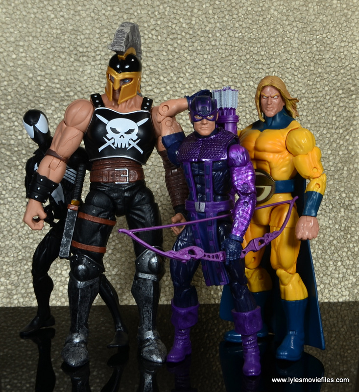 Marvel Legends Ares figure review -with Venom, Hawkeye and Sentry