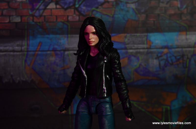 Marvel Legends Jessica Jones figure review - moody shot