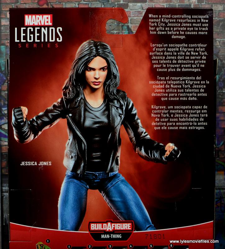 Marvel Legends Jessica Jones figure review - package bio