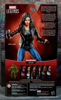 Marvel Legends Jessica Jones figure review - package rear