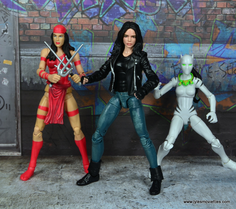 Marvel Legends Jessica Jones figure review - with Elektra and White Tiger