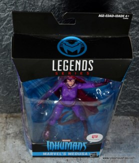 Marvel Legends Medusa figure review -package top