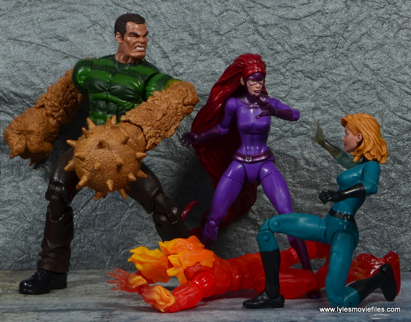 Marvel Legends Medusa figure review -with Sandman vs Human Torch and Invisible Woman