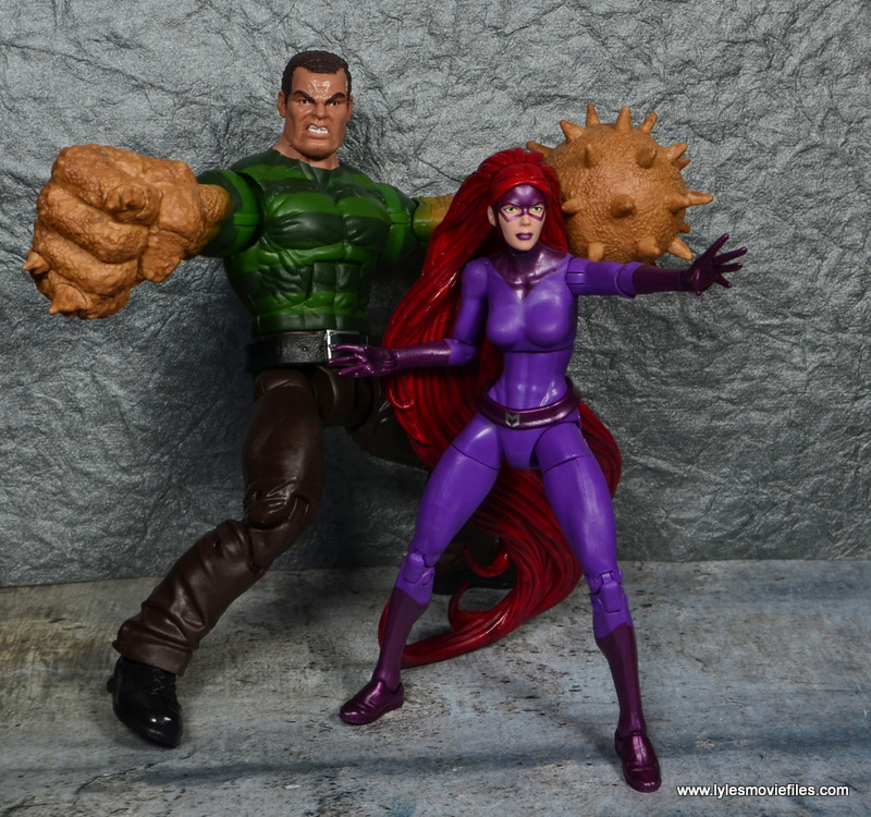 Marvel Legends Medusa figure review -with Sandman