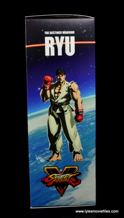 Storm Collectibles Street Fighter V Ryu figure review - package side