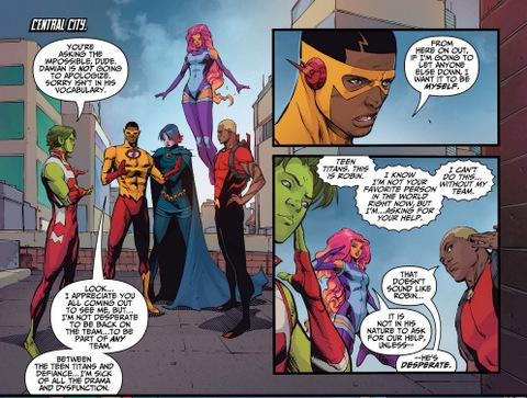 Teen Titans #14 interior art