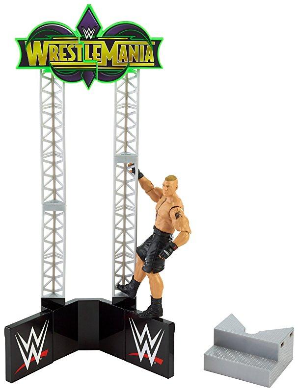 WrestleMania Build Set Brock Lesnar scaling