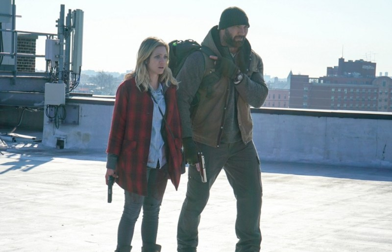 Bushwick - Brittany Snow and Dave Bautista rooftop