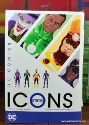 DC Icons Static figure review -package rear
